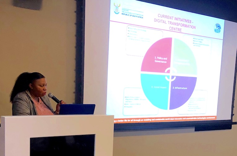 Jeanette Morwane, Deputy Director General of the Department of Telecommunications and Postal Services providing a view from government on IOT and the Fourth Industrial Revolution (4IR),