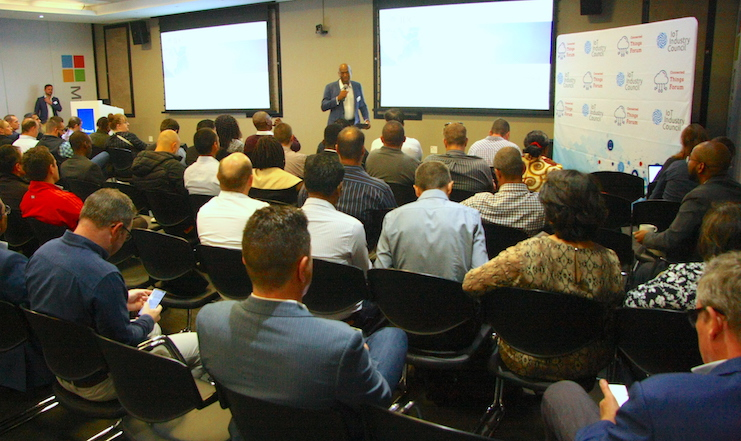 IOT industry players, analysts, and some businesses keen to hear about where things are going.