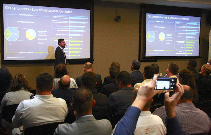 Kieran Frost from IDC giving a market overview for adoption in the southern African market.
